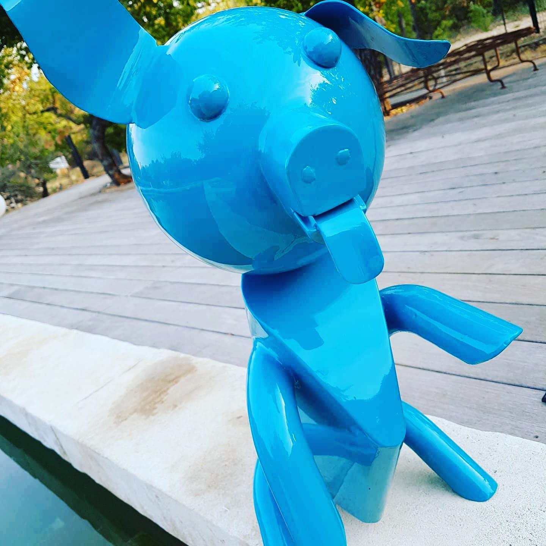 Cochon/chien bleu